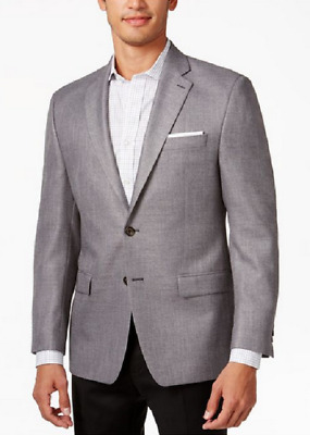 Lauren Ralph Lauren Men's Solid Classic-Fit Sport Coat, Gray, Size 60Long, $350