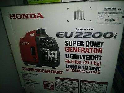Honda EU2200i 2200W 120V Super Quiet Portable Inverter Generator NEW FREE SHIP