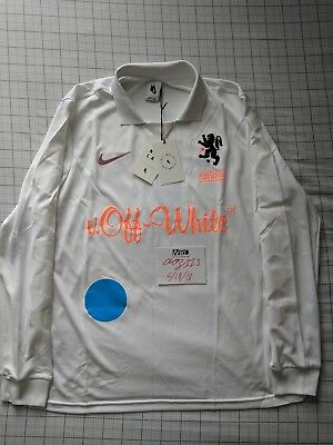NIKE X OFF-WHITE Football Jersey Mon Amour Soccer White Long Sleeve ... cf096e303
