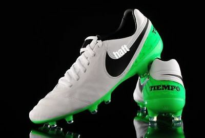 best service 1ea3c 430a9  120 Nike Tiempo Legacy II 2 FG Soccer Cleats Shoes 11 White Green  819218-103