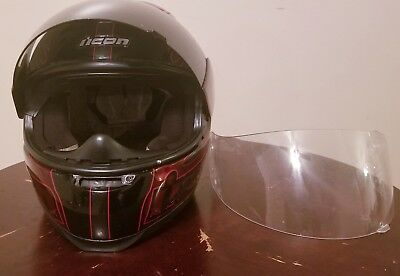 Icon Airframe Carbon Lifeform Full Face SLAYER CLAYMORE Helmet NICE~ SIZE L~