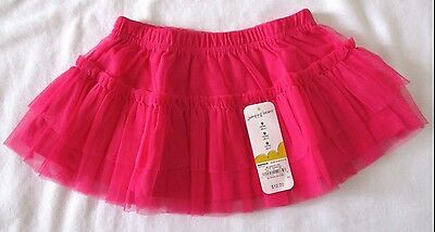Jumping Beans dark pink tulle tutu skirt 9 months New