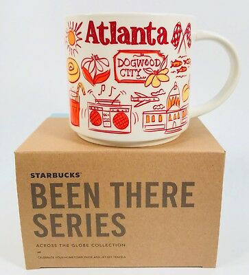 Starbucks Been There Series Atlanta Across The Globe Collection Mug Free Ship!