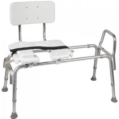 DMI Heavy-Duty Sliding Transfer Bench with Cut-Out Seat