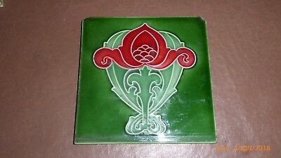 A  Art  Nouveau  Tile  By  Maw & Co