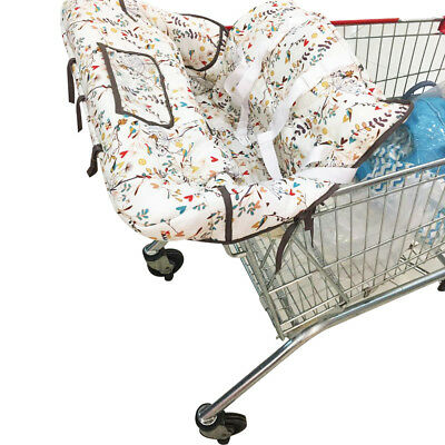 2-in-1 Infant Cotton Shopping Cart Cover and Seat Positioner Universal Size