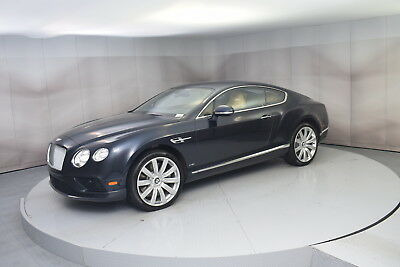 2016 Bentley Continental GT W12 in Blue Sapphire with 9,547 miles 2016 BENTLEY CONTINENTAL GT IN DARK SAPPHIRE WITH SAFFRON INTERIOR LOW MILES