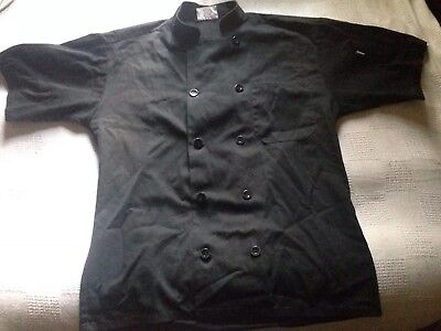black short sleeve chef coat & 2 Sets Of pants