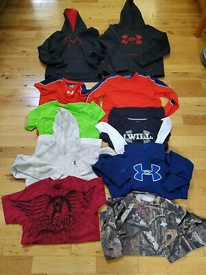 Lot of Boys Tops - Under Armour YXL  and More