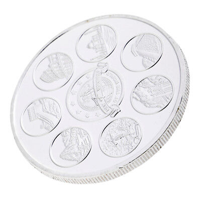 New Seven Wonders of the World Commemorative Coin Model Toy Collectible Gift
