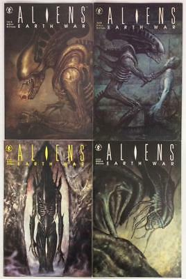 Aliens Earth War #1 to #4 complete series (Dark Horse 1990)