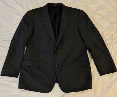 GUCCI Men's Wool Dark Grey Sport Blazer Jacket Coat Size 56R EUR 46R USA