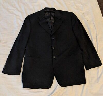 Burberry London Black 3 Button Men's Blazer 46R Sport Coat
