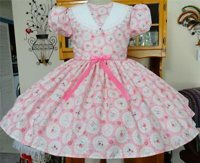 """Annemarie-Adult Sissy Baby Girl Dress  """"Doilies"""" Made to Your Measurements."""