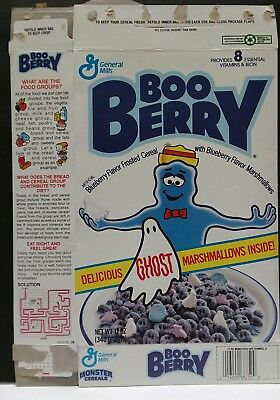 Vintage ©90s General Mills Boo Berry Booberry empty  cereal box