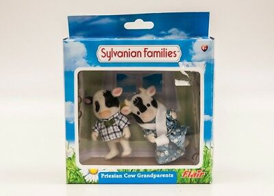 Sylvanian Families Friesian Cow Grandparents with Box #126
