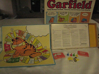 Vintage 1978 Garfield Board Game by Parker Brothers Complete