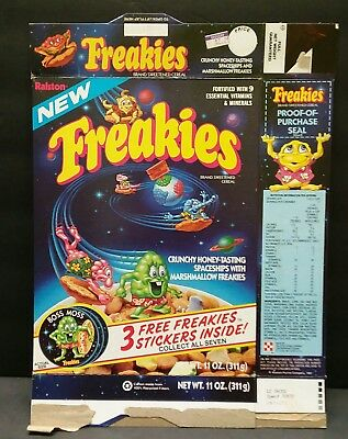 Vintage ©1980s Ralston Freakies empty  cereal box good old days