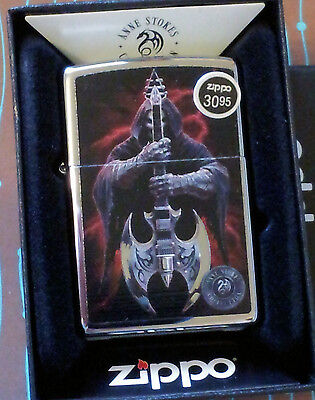 Zippo 29109 Anne Stokes Grim Reaper Guitar NEW in box Windproof Lighter