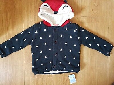 Mothercare boys warm hoodie 18-24 months NEW