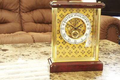 Patek Philippe Skeleton Exhibition Timepiece Dislay Desk Clock