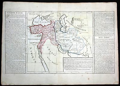 ca. 1780 Turkey Asia Black Sea Georgia Iran Clouet antique print Kupferstich