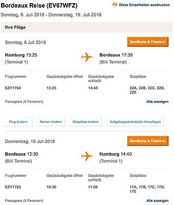 Sommerferien Flugtickets Hamburg - Bordeaux (Atlantikküste) So 8.7.18 - 19.7.18