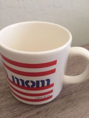 All American Mom Red White Blue Striped Patriotic Coffee Cup Mug