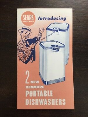 Sears Lady Kenmore Portable Dishwashers 1950s Appliance Advertising Brochure