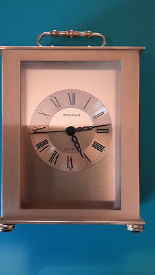 Stawer Carriage Clock Quartz fully working All brass