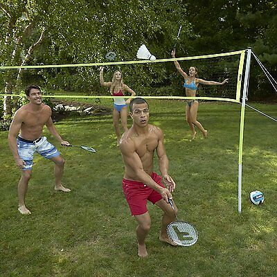 Badminton Volleyball Set Portable Outdoor Beach Sports Tennis Game Play Training