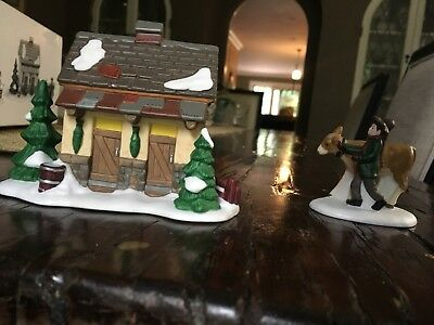 Department 56, Dickens Village, Tending The New Calves, set of 3. MISSING PIECE.