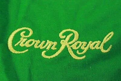 12 CROWN ROYAL APPLE GREEN FELT BAG -- 1L SIZE  Drawstring crafts quilting gift