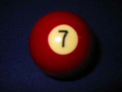"7 (Seven) Ball.  2 1/4"" Standard Pool Ball For Coin-Op Or Home Style Tables"