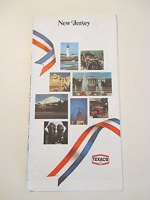 Vintage TEXACO NEW JERSEY Oil Gas Service Station State Road Map~1976 Edition