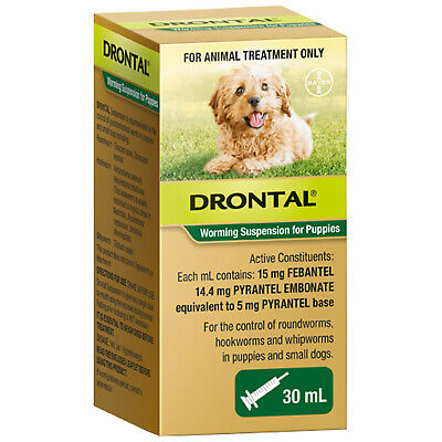 DRONTAL Worming Suspension for Puppies & Small Dogs (30ml)