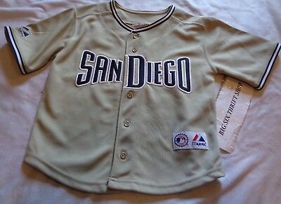 e4b504e0a Majestic San Diego Padres Tan Team MLB Jersey size 4 Child Toddler Sewn