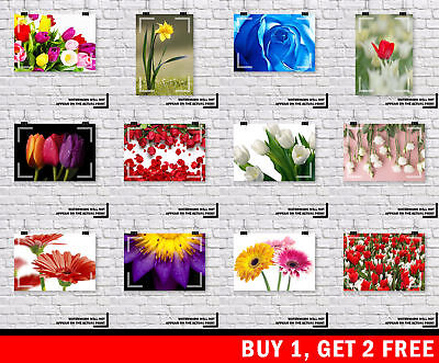 Flowers Floral Petals Rose Tulip Daisy Prints - Choice Of 108 - Buy 1 Get 2 Free