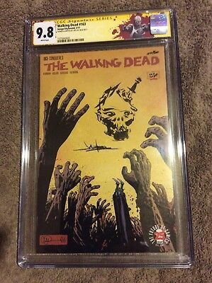 CGC 9.8 The Walking Dead 163 Jae Lee Auto and sketch