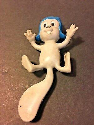 Vintage ROCKY (Bullwinkle Cartoon) Jesco Rubber 1985 Bendable Toy FlyingSquirrel