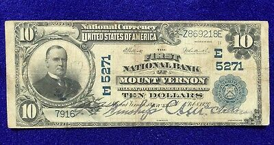 1902 $10 Mount Vernon New York Ch#5271 National Note
