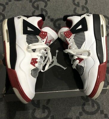 "hot sales a6883 70040 100% AUTHENTIC AIR Jordan 4 Fire Red ""Mars Blackmon"" Spike Lee Sz 7  308497-162"