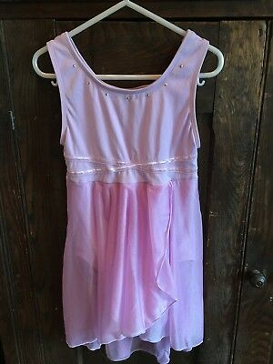 Jacques Moret Medium 8-10 Lavender Skirted Leotard with Rhinestone Accents