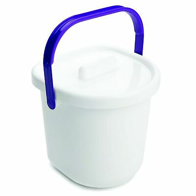 The Neat Nursery Co. Baby Child Nappy Diaper Waste Disposal Pail - White / Plum