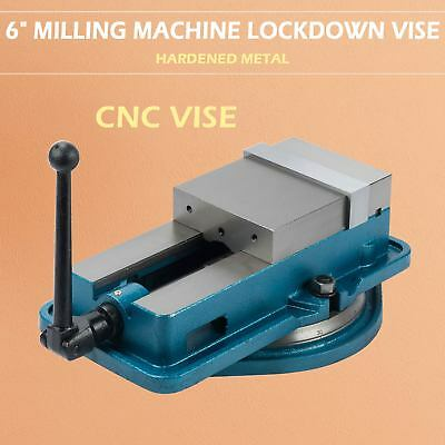 "Milling Machine Vise 6"" Bench Clamp Clamping Hardened Drilling"