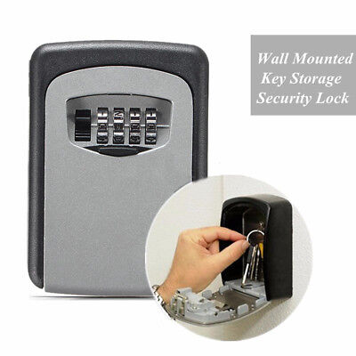 New Digit Wall Cabinet Mount Box Safe Security Outside Lock Case Key Password