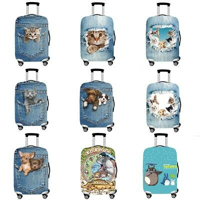 """18-32"""" Elastic Luggage Suitcase Cover Protective Bag Dustproof Case Protector O"""