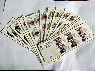GB London 2012 Olympic Games Gold Medal Winners Set of 29 Minisheets MNH