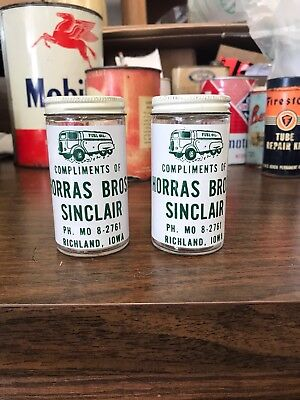 Vintage Sinclair Horras Bros. Salt And Pepper Shakers Richland, Iowa