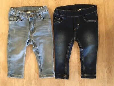 Baby Girls Jeans SEED + BEBE Size 0 6-12months